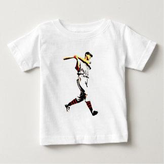 Baseball Artwork - Baseball Player Baby T-Shirt