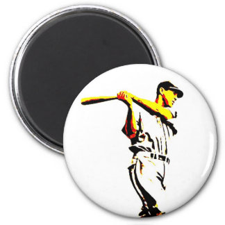 Baseball Artwork - Baseball Player Magnet