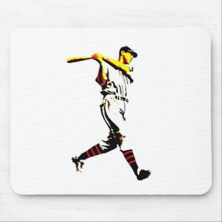 Baseball Artwork - Baseball Player Mouse Pad