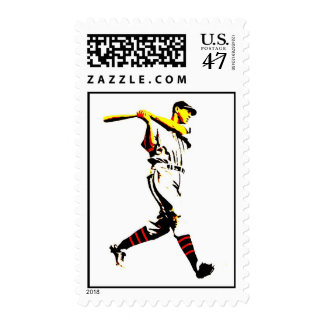 Baseball Artwork - Baseball Player Postage