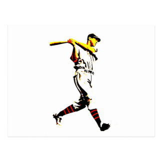 Baseball Artwork - Baseball Player Postcard