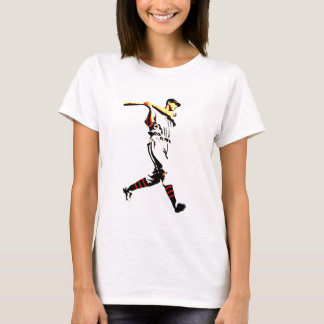 Baseball Artwork - Baseball Player T-Shirt