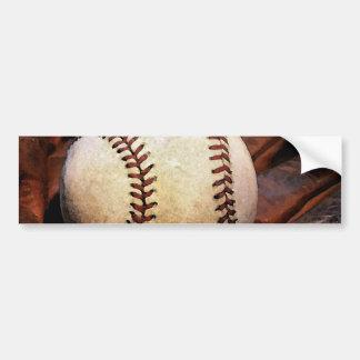 Baseball Artwork Bumper Sticker