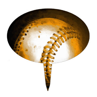 Baseball Artwork Cake Topper