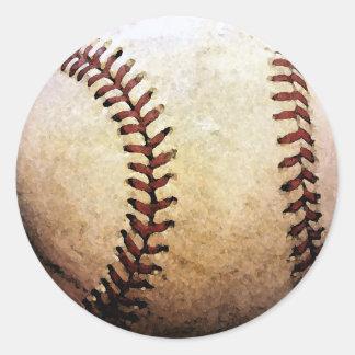 Baseball Artwork Classic Round Sticker