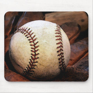 Baseball Artwork Mouse Pad