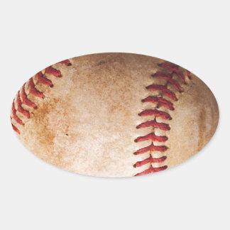 Baseball Artwork Oval Sticker