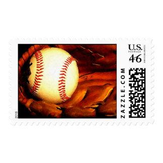 Baseball Artwork Postage