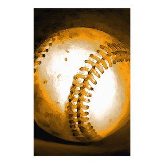 Baseball Artwork Stationery