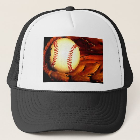 Baseball Artwork Trucker Hat