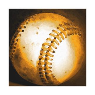 Baseball Artwork Wrapped Canvas