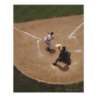 Baseball at Home Plate Posters
