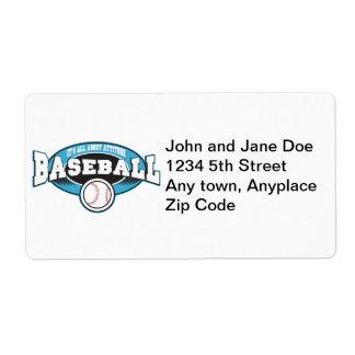 Baseball Attitude Custom Shipping Label