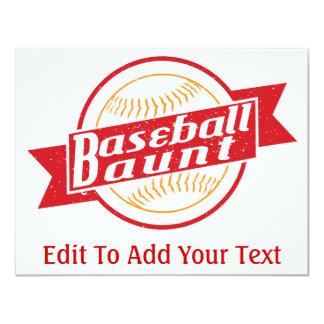 Baseball Aunt 4.25x5.5 Paper Invitation Card