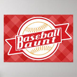 Baseball Aunt Poster Print
