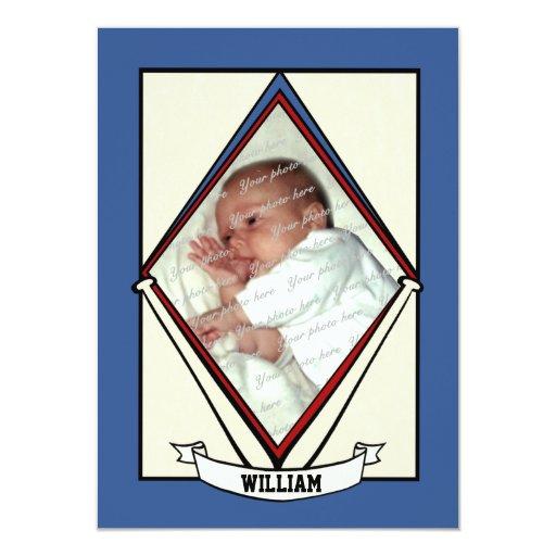 Baseball Baby Birth Announcement