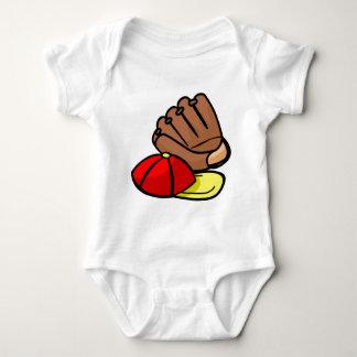 baseball baby bodysuit