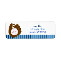 Baseball Baby Boy Address Labels