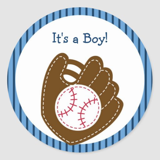 Baseball Baby Boy Envelope Seals Stickers