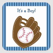 Baseball Baby Boy Party Favor Stickers