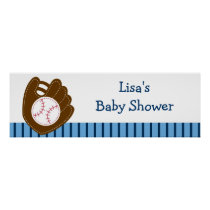 Baseball Baby Boy Personalized Banner Sign Poster