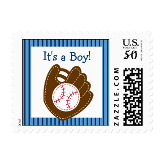 Baseball Baby Boy Personalized Postage Stamps