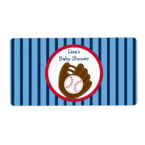 Baseball Baby Boy Water Bottle Stickers Labels