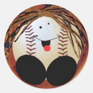 Baseball baby classic round sticker