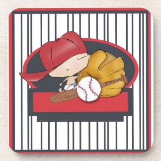 Baseball baby coaster design