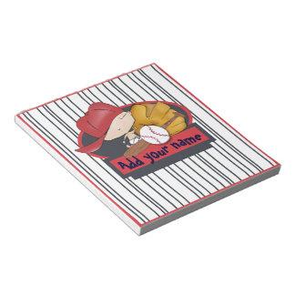 Baseball Baby note pad