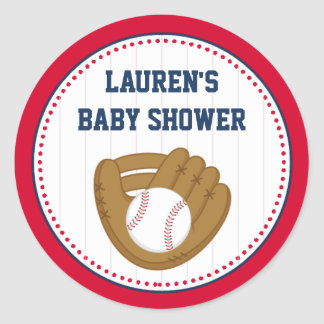 Baseball Baby Shower Favor Tag Stickers
