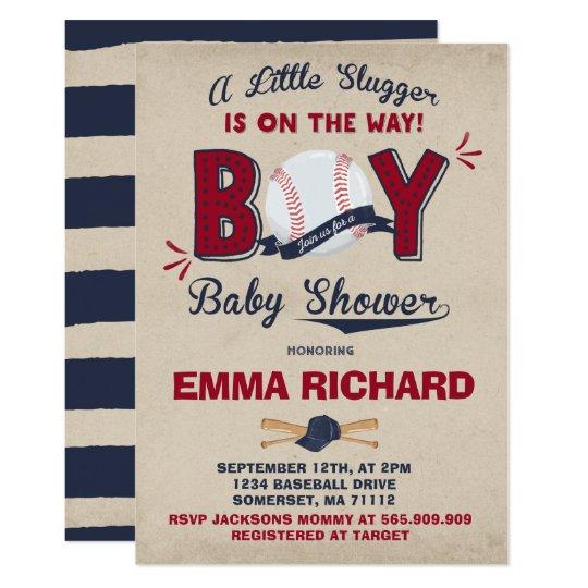 Baseball Baby Shower Invitation Baseball Shower Zazzlecom