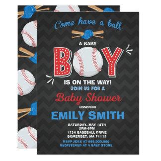 Baseball Baby Shower Invitation Sport Baby Shower