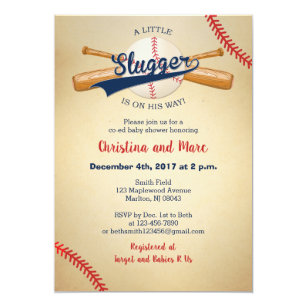 Baseball Baby Invitations Announcements Zazzle