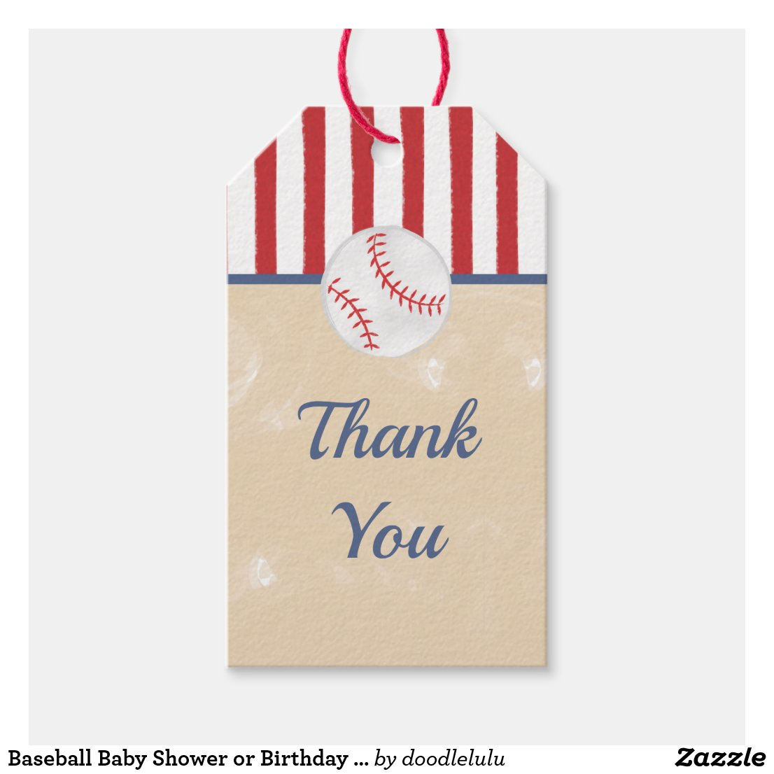 Baseball Baby Shower or Birthday Gift Tag, Classic Gift Tags