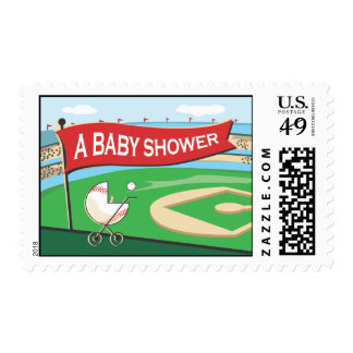 Baseball Baby Shower Postage Stamp