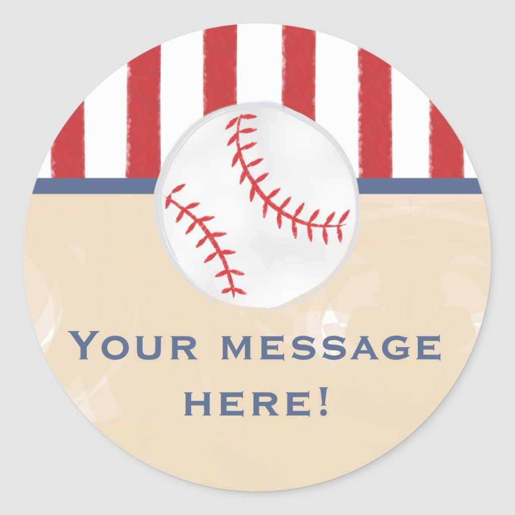 Baseball Baby Shower Round Sticker