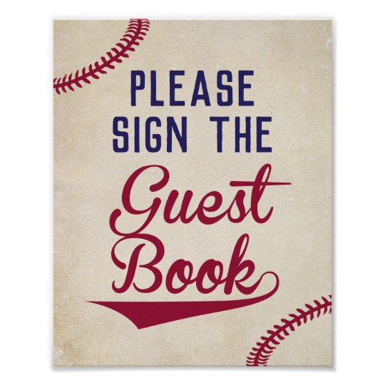 baseball baby shower sign the guest book sign zazzle com