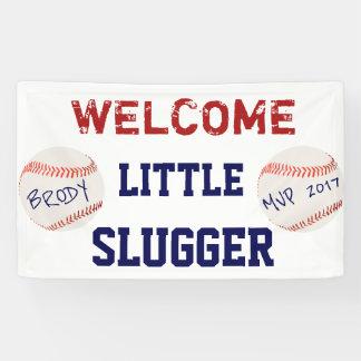 Baseball Baby Shower Welcome Banner