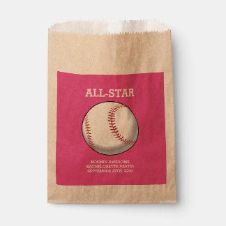 Baseball Bachelorette Party Favor Bags