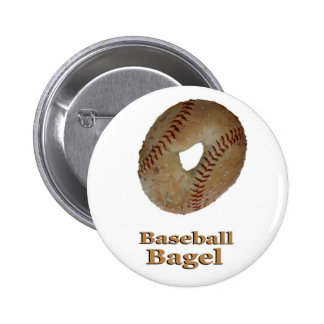 Baseball Bagel Pins