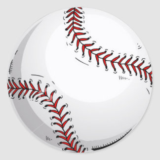 Baseball Ball 1 Classic Round Sticker
