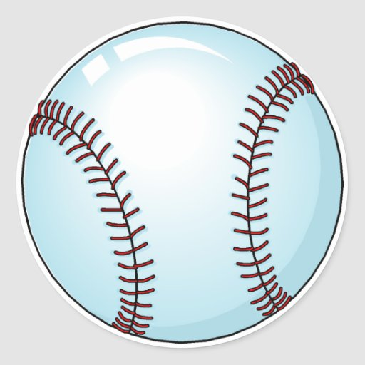Baseball Ball 4 Classic Round Sticker