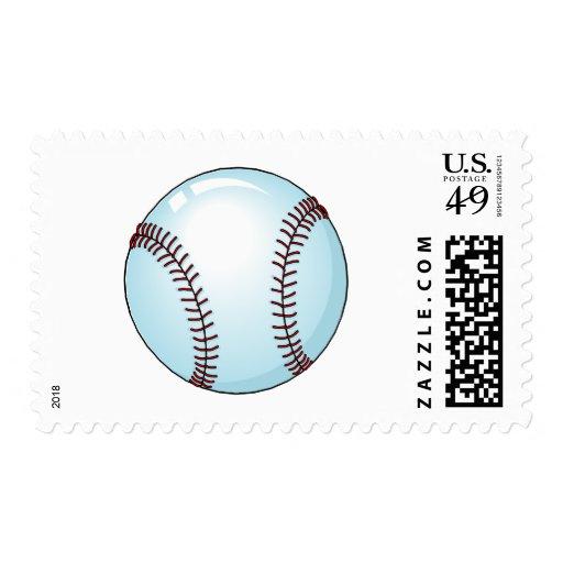 Baseball Ball 4 Postage Stamp