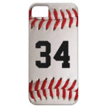 Baseball Ball and Number iPhone 5 Covers