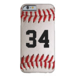 Baseball Ball and Number iPhone 6 Case