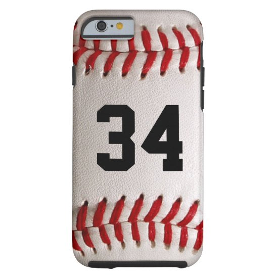 Baseball Ball and Number Tough iPhone 6 Case