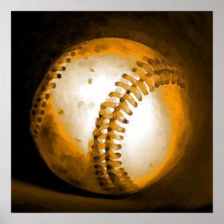 Baseball Ball Artwork Poster Print