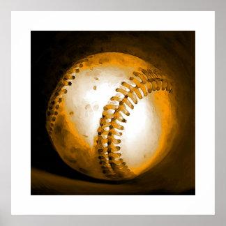 Baseball Ball Artwork Poster Print Sports Posters