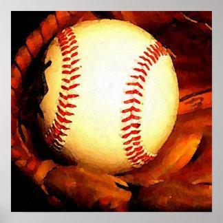 Baseball Ball Artwork Square Poster